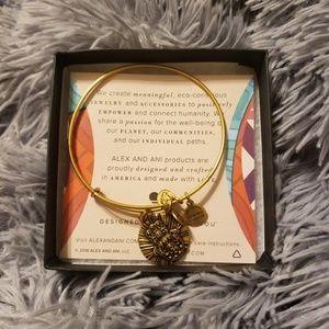 Alex and Ani Jewelry - Alex and Ani Hand of Fatima Gold Bangle